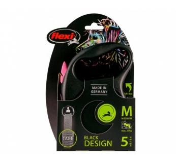Flexi Black Design M Tape 5m Black/Fuchsia - up to 25kg