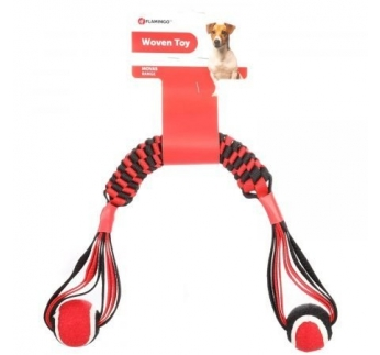Dog Toy Movas Woven Stick with Tennis Balls 55cm