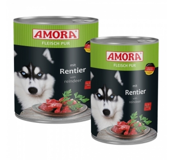 Amora Canned Dog Food (Reindeer) 800g