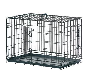 Wire Dog Cage Black Keo 79x48x53cm M