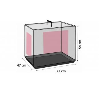 Клетка металлическая с 2 дверками, 79x48x53см, черная