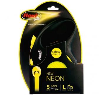 Flexi L Neon Must/Kollane Lint 5m 50kg