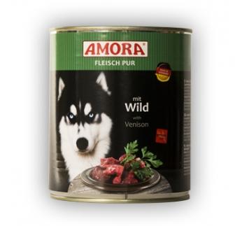 Amora Canned Dog Food (Venison) 800g