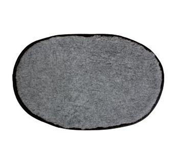 Лежак овальный, серый 108x67см