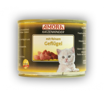 Amora Canned Kitten Food (Poultry) 200g