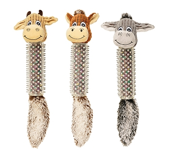 Dog toy with Rubber Spikes 45cm