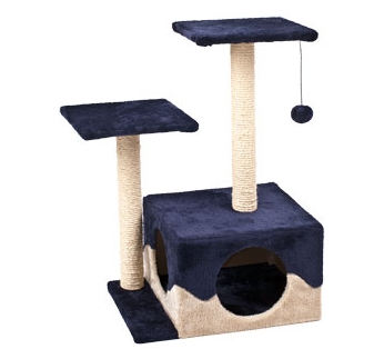 Cat Scratching Pole Kangri Blue/Beige 44x33x70cm