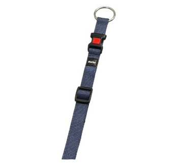 Collar Nylon Blue/Grey 20-35cm 10mm