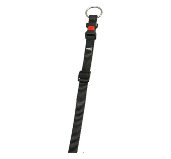 Collar Ziggi Nylon Black 30-45cm 15mm
