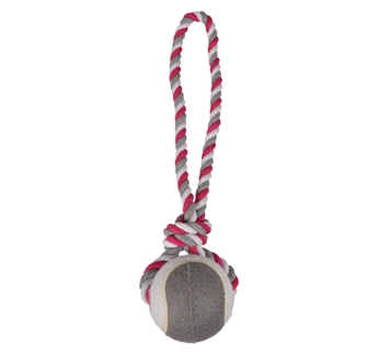 Tennisball with Rope Pink/Grey 9,5/50cm