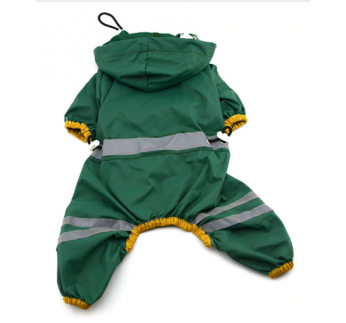 Raincoat for Dogs Green 36cm/XL