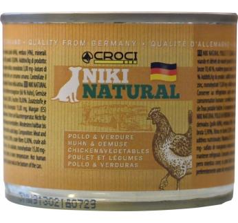 Niki Natural консервы для собак -  курица с овощами 200г