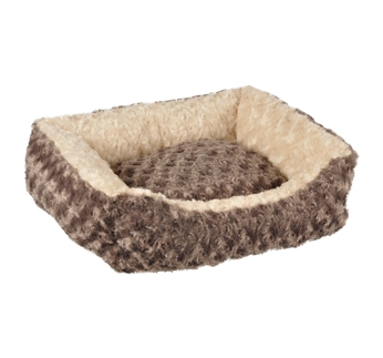 Dog Bed Cuddly Taupe 65x45x15cm