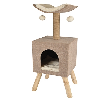 Cat Scratching House Scandi 43,5x40x54,5cm