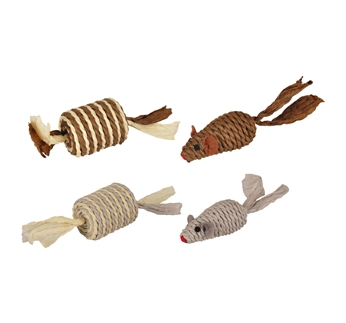 Paper Cat Toy Mouse + Roller