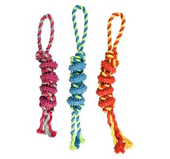 Игрушка для собак, веревкой, резина 40см