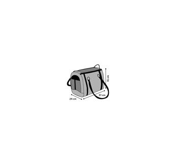 Carrying Bag Cilou Brown 38x24x31cm