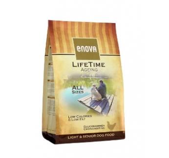 Enova Lifetime Ageing Light & Senior Dog Food 2kg
