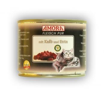Amora Консервы для кошек - теленок и утка 200г