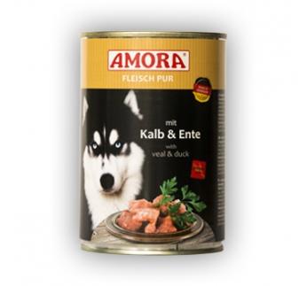 Amora Canned Dog Food (Calf & Duck) 400g