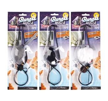Cat Toy Doorhanger Mouse with Sound 6,5x4x3cm