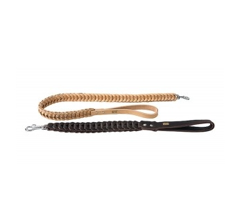 Поводок кожаный Klin, коричневый 40мм х 60см