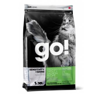 GO! Sensitivity+Shine Teraviljavaba Kuivtoit Lõhega Kassile 1,81kg
