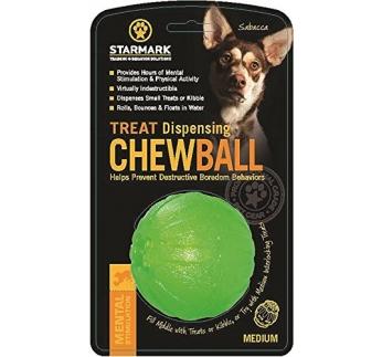 Starmark Treat Dispensing Chew Ball - игрушка для жевания 7см