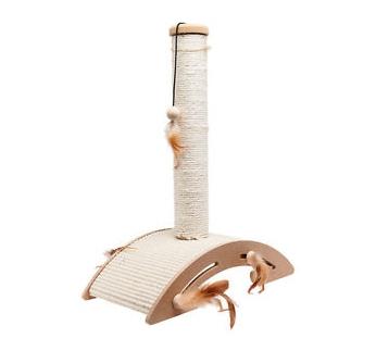 Scratch Pole Sisal + Toy 40x21x52cm