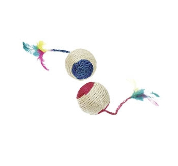 Cat Toy Rattle + Feather 6cm