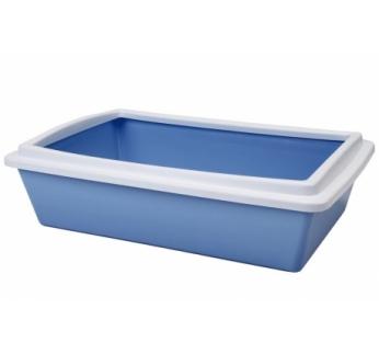 Cat Litter Tray 2 Blue 50x35x12cm