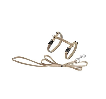 Cat Harness Beige with Leash 110cm