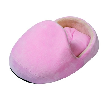 Puppy Basket Pink Slipper 60x50x25cm