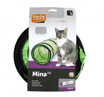 Green Cat Tunnel with Net 90cm