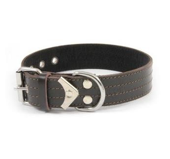 Collar Leather+Nailon 55cm x 40mm