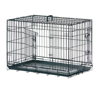 Wire Dog Cage Black 120x76x82cm XXL