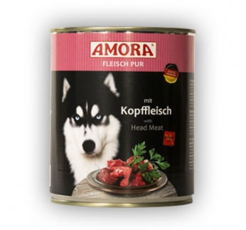 Amora консервы для собак - говядина и мясо головы  800г