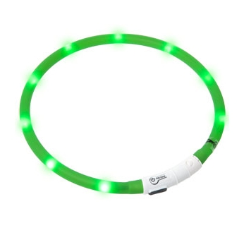 LED Collar Visio Light Green 20-70cm