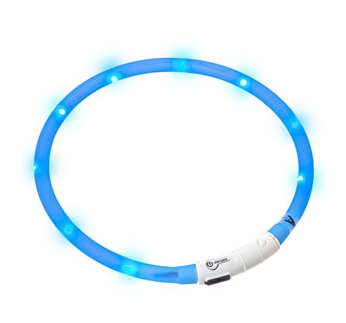 LED Collar Visio Light Blue 20-70cm