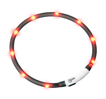 LED Kaelarihm Visio Light Must 20-70cm