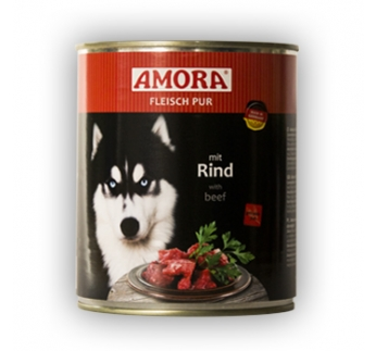 Amora Canned Dog Food (Beef) 800g
