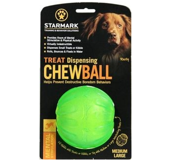 Starmark Treat Dispensing Chew Ball - игрушка для жевания 9см