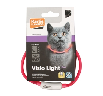 LED Kaelarihm Visio Light Roosa 20-35cm