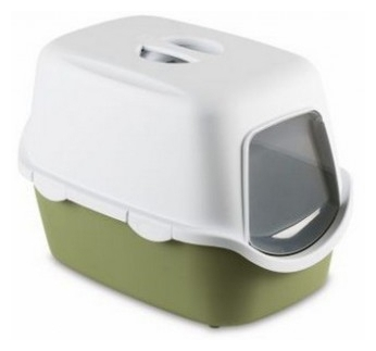 Cat Toilet Cathy Filter Green 56x40x40cm