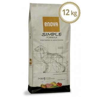 ENOVA Simple Teraviljavaba Kuivtoit Koerale 12kg