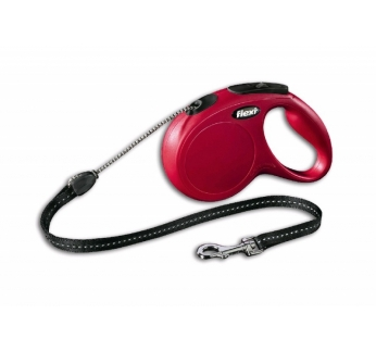 Flexi Classic M Red Cord 5m