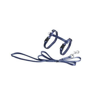 Cat Harness Blue with leash 110cm