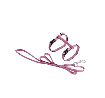 Cat Harness Baby Pink with Leash 110cm